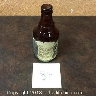old 1950 belfast rootbeer bottle