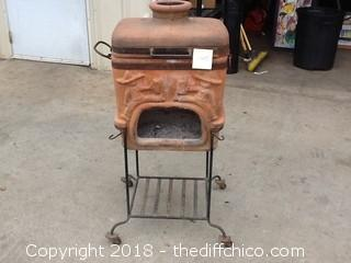 decorative chiminea BBQ