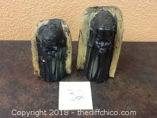 iron wood african statues