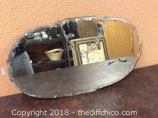 old beveled mirror