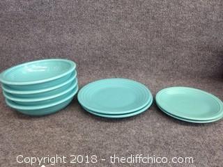 Turquoise Fiesta Dinnerware -  8 Piece