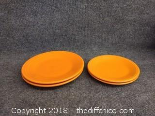 Tangerine Fiesta Dinnerware Plates