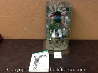 nice Kachina doll in glass case