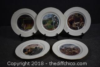5 John Deere Collector Plates