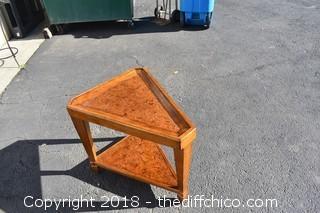 Walnut Custom End Table