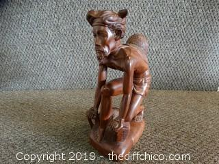 Hand Craved Wood Statue