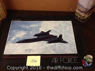 vintage SR-71 blackbird air force poster
