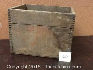 old 7UP wood crate