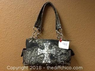 camo decorative purse