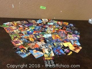 lot of vintage marvel cards