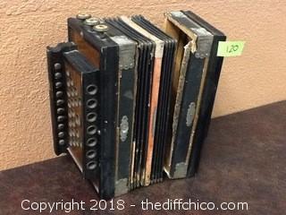 gebr ludwig rajah steel bronze accordion
