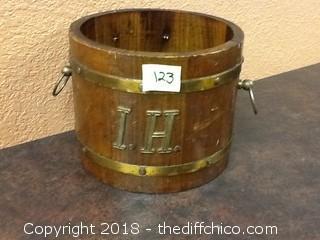 vintage wood ice/wine bucket