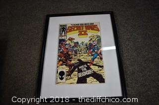 Framed Comic Book