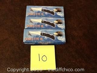 3 new eagle eye II pocket knives