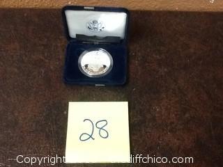 .999 silver eagle in case