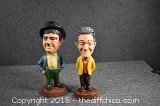 Vintage Laurel & Hardy Chalk Figures-see pictures for chips