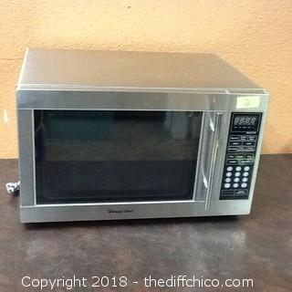 stainless steel magic chef microwave