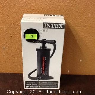 new in box intex double quick III pump