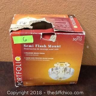 new portfolio semi flush mount light