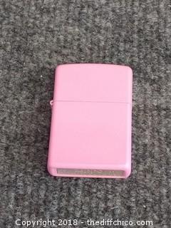 Pink Zippo Lighter #17 - Working