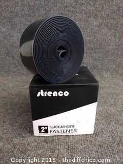 """Strenco 2"""" Black Adhesive Fastener"""