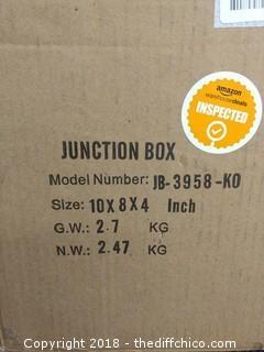 "Junction Box - 10"" x 8"" x 4"" - NEW"