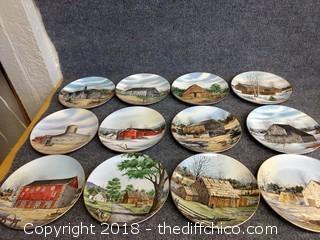 "Franciscan Porcelain ""The Vanishing American Barn"" by Harris Hien (12)"