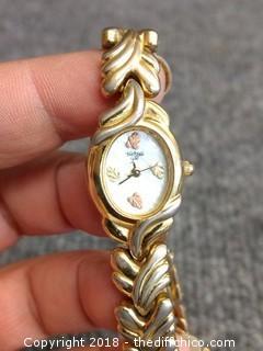 12 Karat Black Hills Gold Ladies Watch