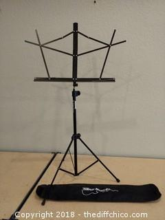 On Stage Sheet Music Stand - Adjustable - With Case