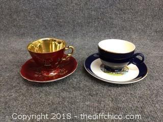 Vintage Teacups and Saucers (2)