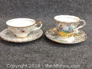 Teacups and Saucers (2) - Vintage - 1 Colclough China