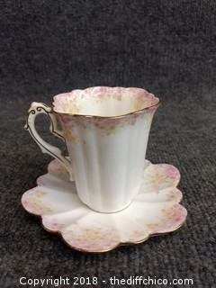 Vintage Teacup and Saucer - See Pictures for Markings