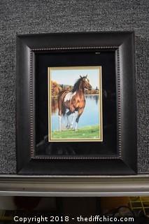 Framed Horse Print