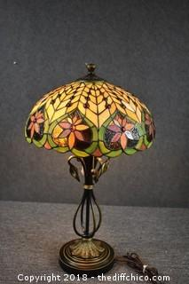 Working Table Stain Glass Lamp
