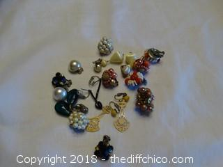 Clip On Earring Lot