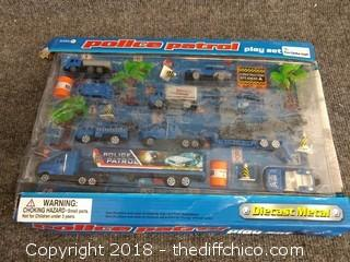 Die Cast Police Patrol Play Set - NEW