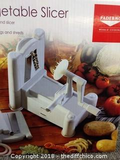 Paderno Spiral Vegetable Slicer - NEW IN BOX
