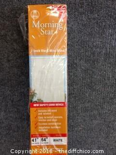 "Morning Star 1"" Vinyl Mini Blind - 41"" W x 64"" L"