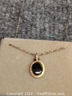 Black Onyx Pendant Nacklace