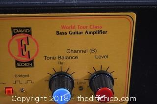 World Tour 1250 David Eden Bass Guitar Amplifer-Powers Up