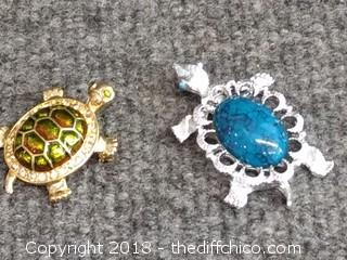 Turtle Brooches - Vintage