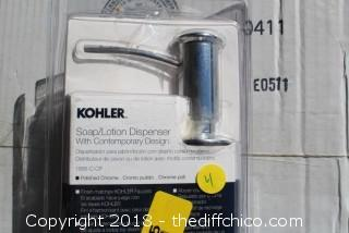 Kohler K-1895-C-CP Soap or Lotion Dispenser with Contemporary Design