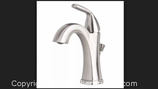 Brushed Nickel Elysa-V Single Hole Bathroom Faucet with pop up Drain