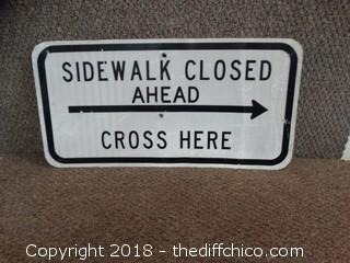 Double Sided Metal Sign