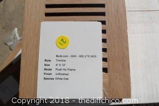 White Oak Wood Floor Registers 4 x 12   Qty 5