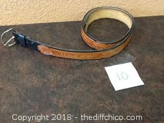 viet nam veteran leather belt