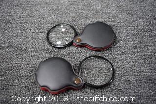2 Pocket Magnifying Glasses