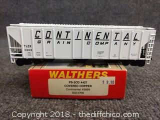 Walthers PS-2CD 4427 Covered Hopper Continental #3869 932-506 - NEW IN BOX