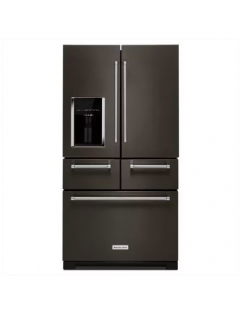 KitchenAid KRMF706EBS Black Stainless 36 Inch Wide 25.8 Cu. Ft. Multi-Door Refrigerator (JD79)