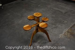 Unique Adjustable Wood Stand
